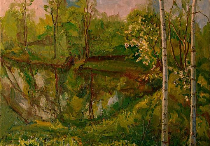 Выставка Ларисы Ахмадеевой «Весна-лето»