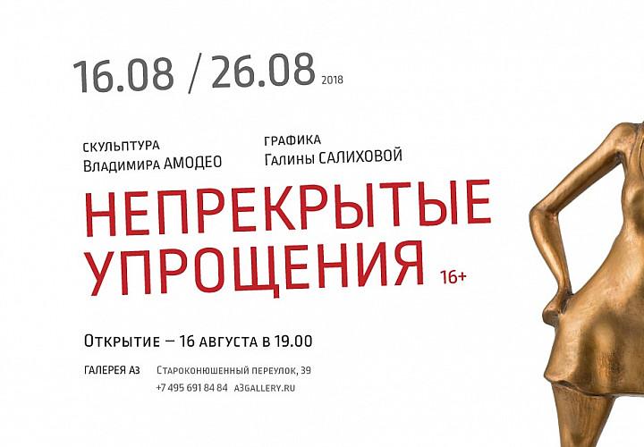 Выставка Владимира Амодео и Галины Салиховой «Неприкрытые упрощения» 16+
