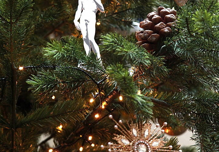 Christmas tree in Pushkin