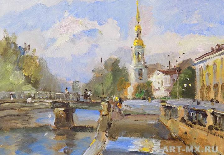 Выставка городских пейзажей петербургского художника Александра Русанова