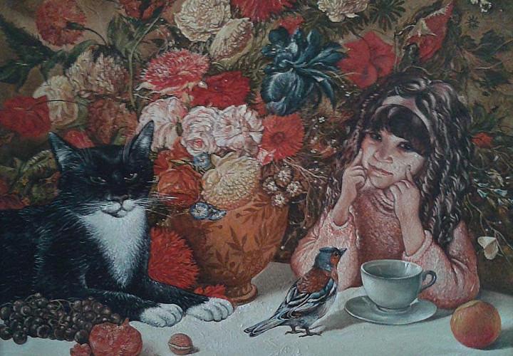 Выставка Сергея Ракутова « Коты-цветы»