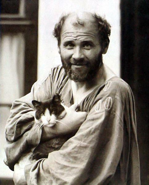 Густав Климт со своей кошкой