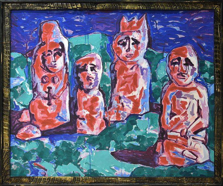 Молдакул Нарымбетов. Выставка «Черные вихри на синем или зелено-голубом фоне» в музее Эрарта