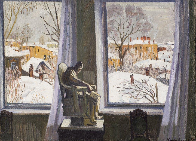 Анатолий Костовский. В музее. 1982. Холст, масло