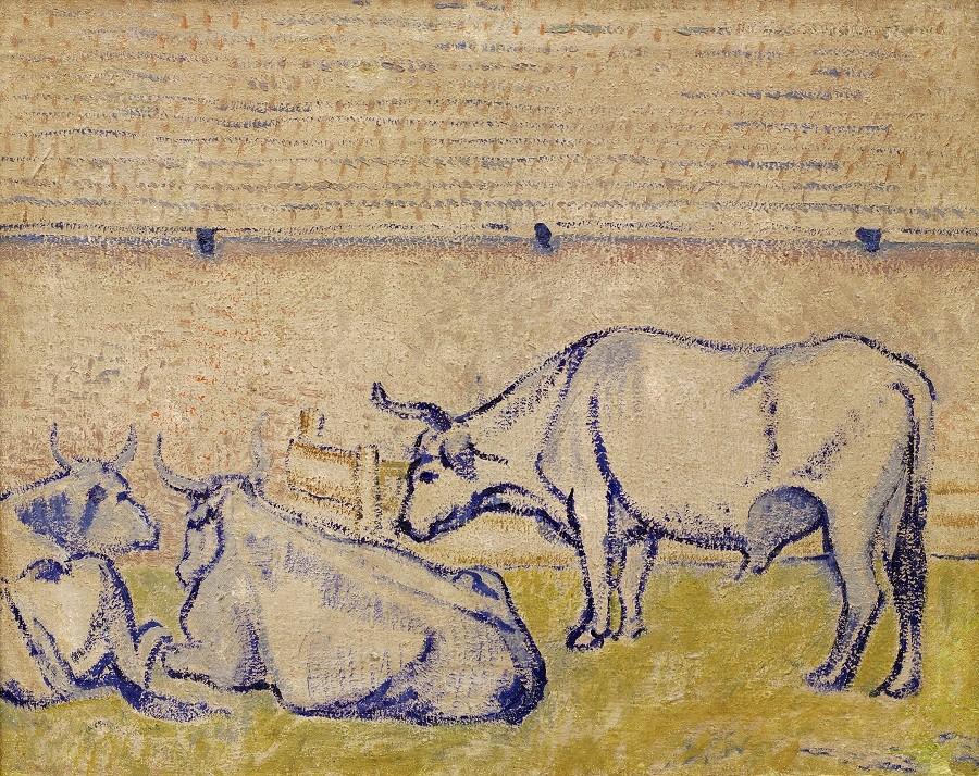 Давид Бурлюк. Волы. 1908. Самарский областной художественный музей