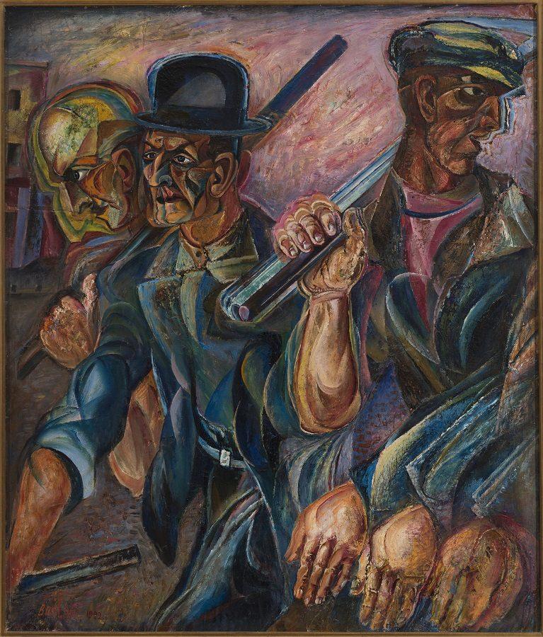 Давид Бурлюк. Рабочие. 1924. Cобрание Анатолия и Майи Беккерман