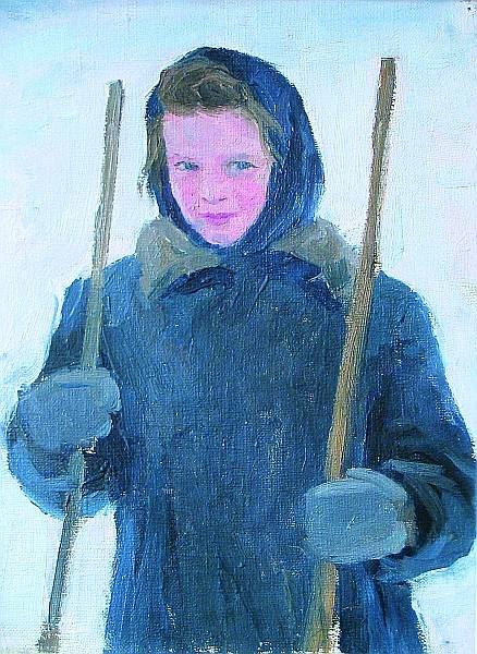 Выставка одной картины «Гагарин Александр Гаврилович (1908 – 1980) «Девочка». Этюд. 1955»
