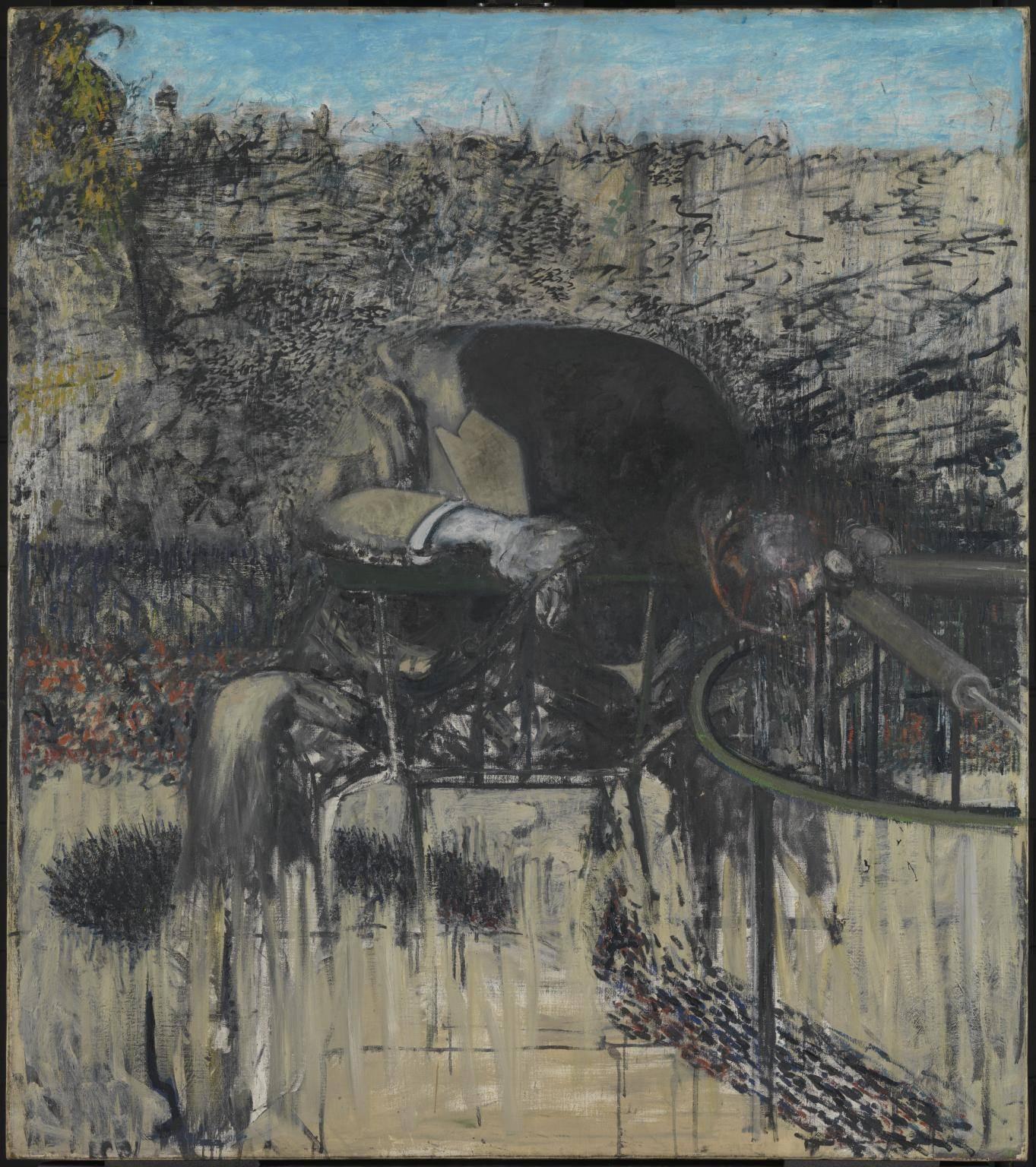 Фрэнсис Бэкон. Фигура в пейзаже, 1945. Масло, Холст. Галерея Тейт