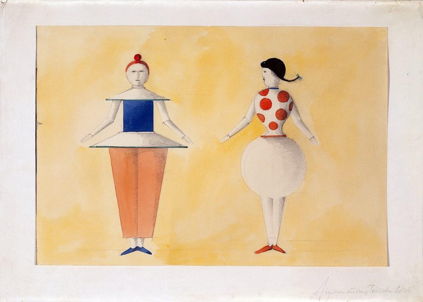 О. Шлеммер. Триадический балет. Две фигуры, 1919