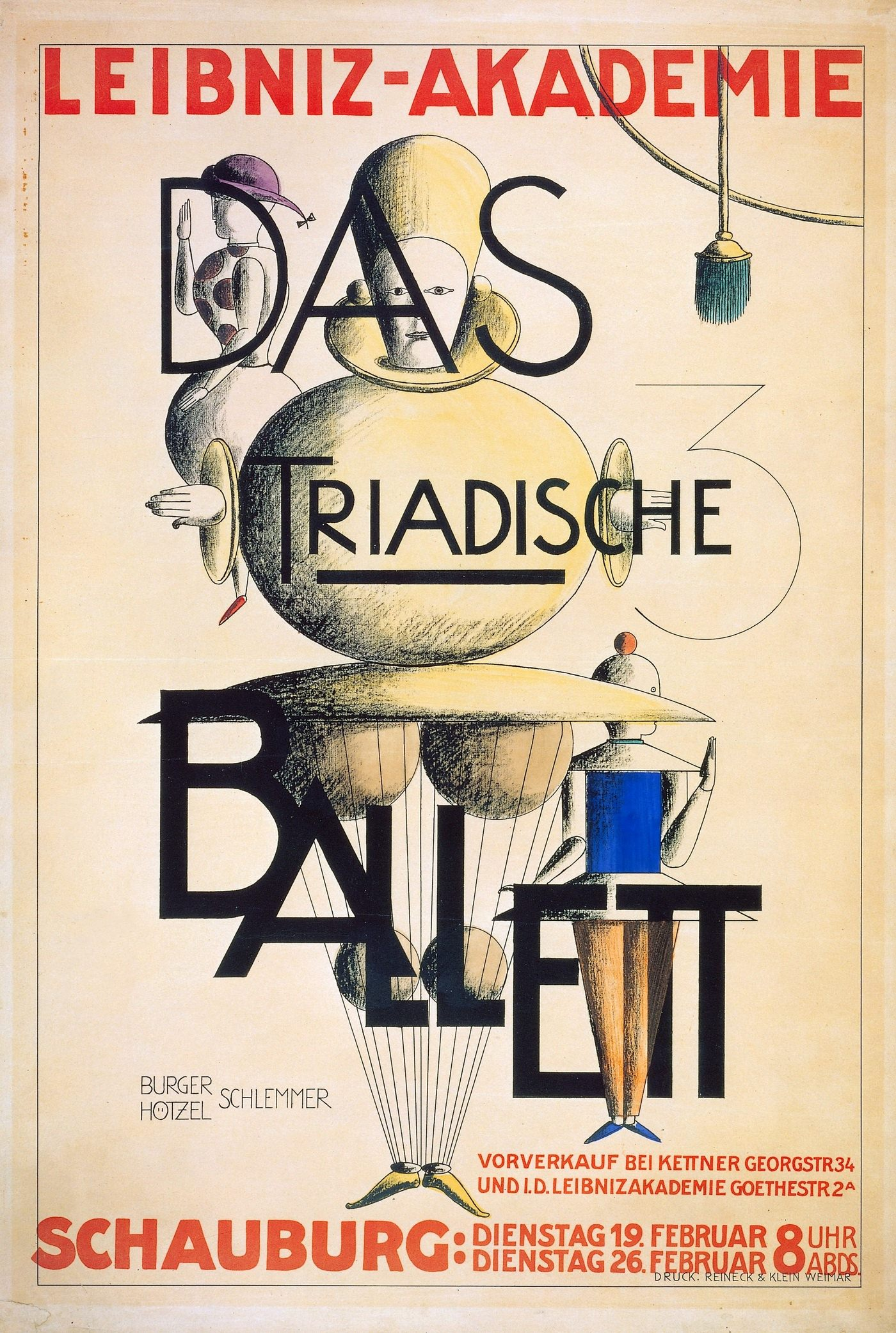 О. Шлеммер. Триадический балет. Плакат, 1924