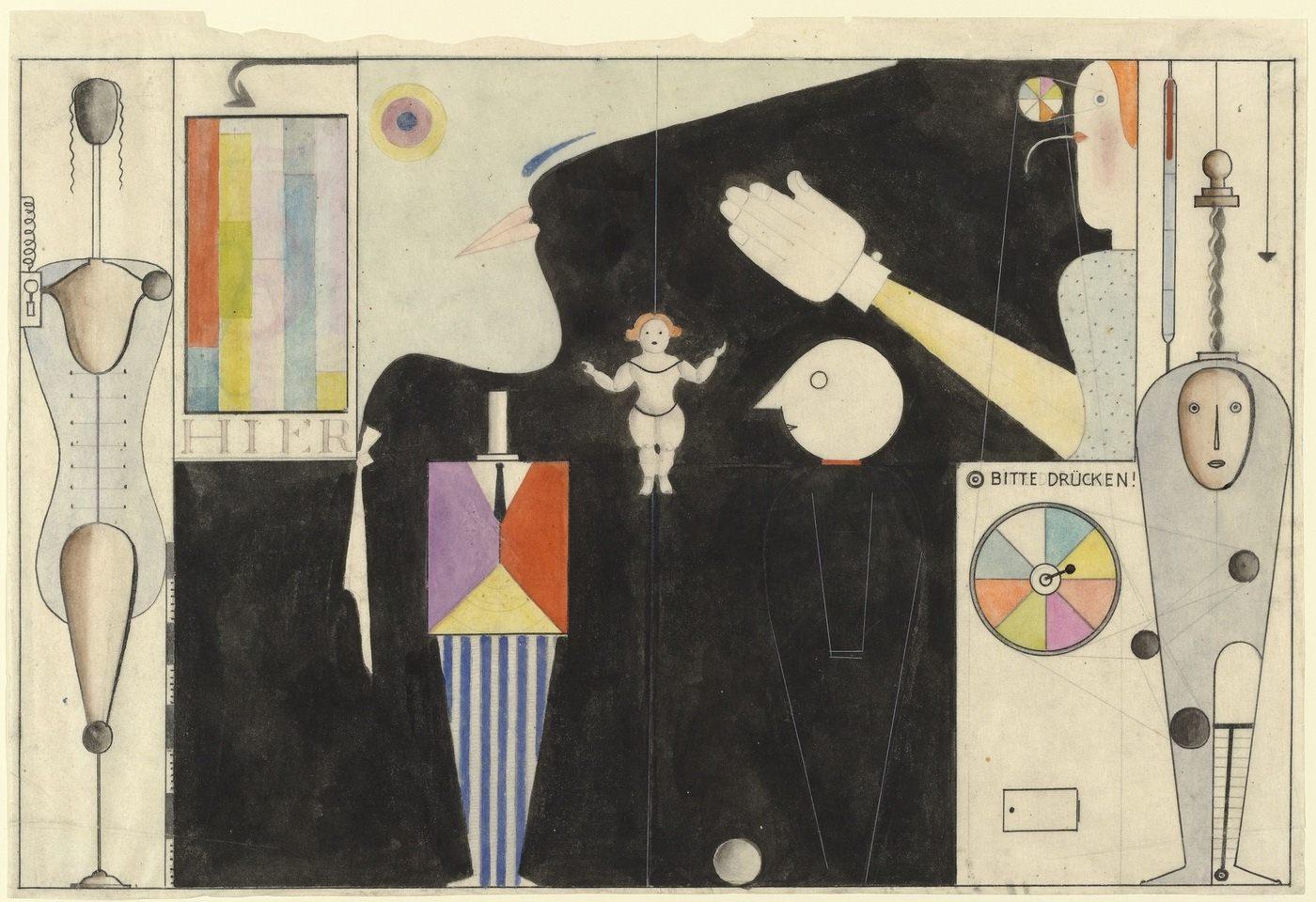 О. Шлеммер. Фигурный кабинет, 1922