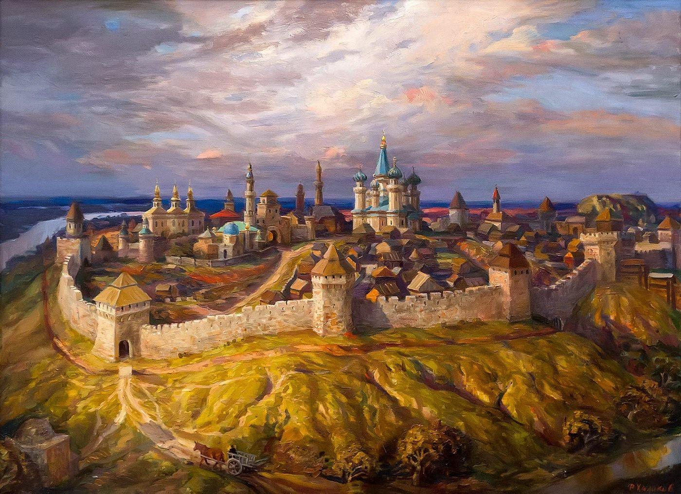 Фиринат Халиков.Кремль во время Казанского ханства