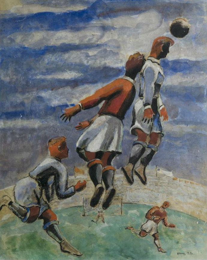 Александр Родченко. Футбол. 1937. Бумага, акварель, тушь, лак. 370×300