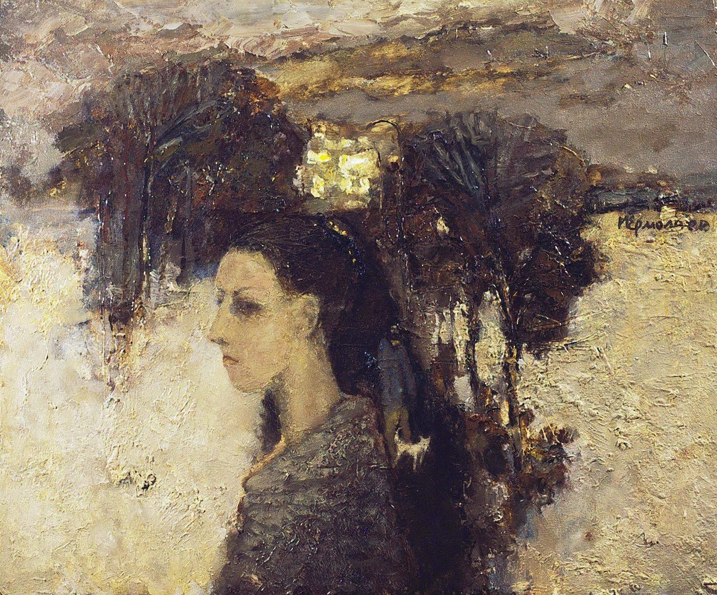 Игорь Ермолаев. Семейный портрет. 1992. Оргалит, масло, 54х65
