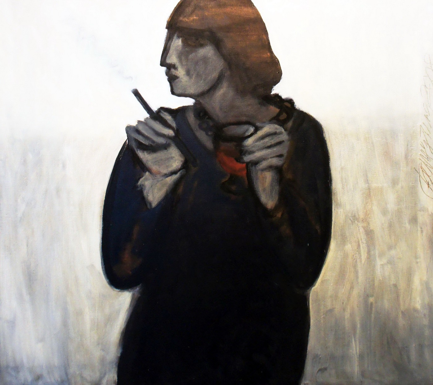 Инна Бажутина. Люся. 2009. Холст, масло, 90х100