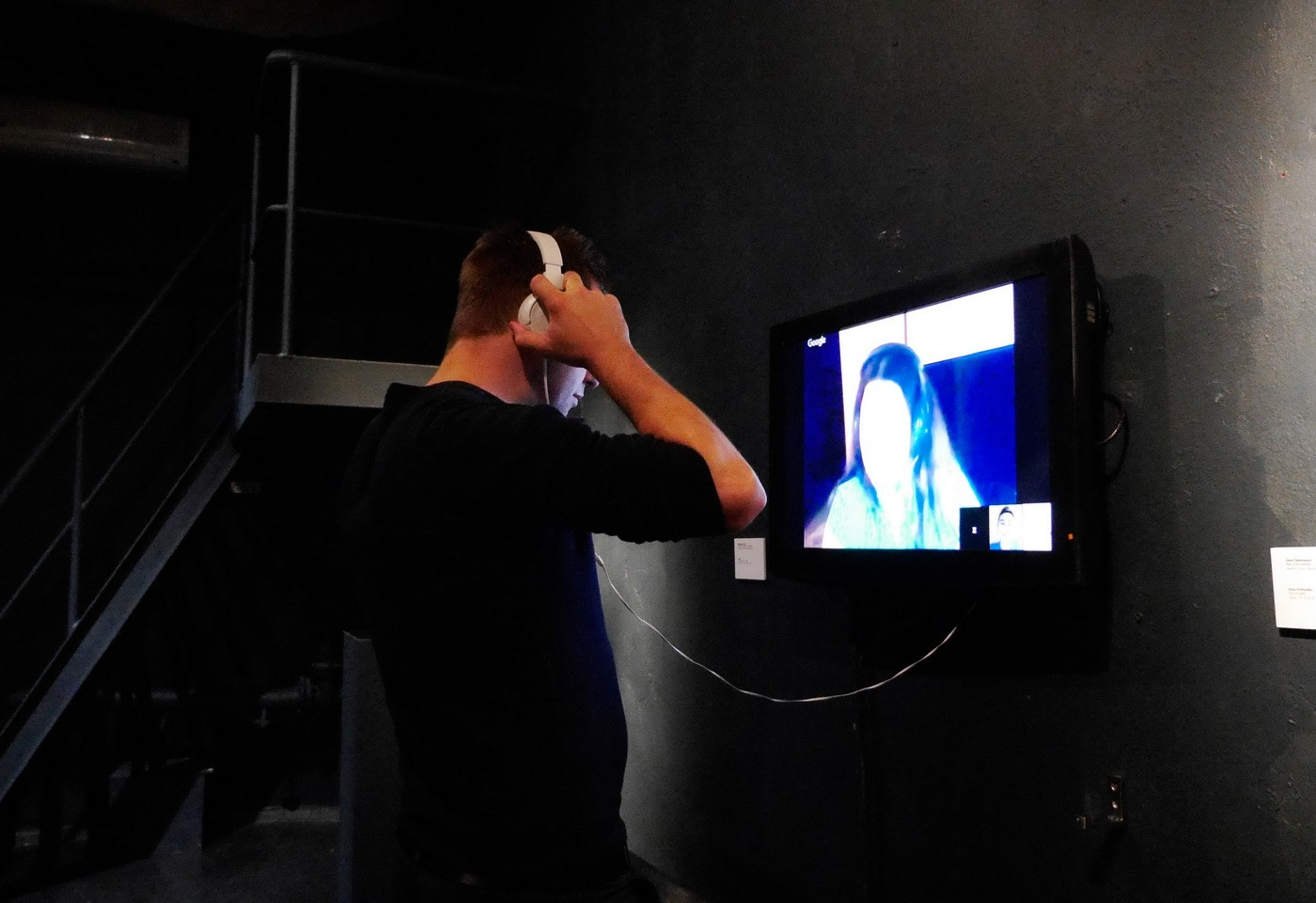 "Video installation Nicole Sayler ""Amauros"""