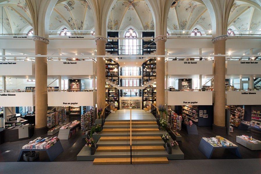 Книжный магазин Вандеров. Нидерланды. ©Bkpunt Architekten, Joop van Putte