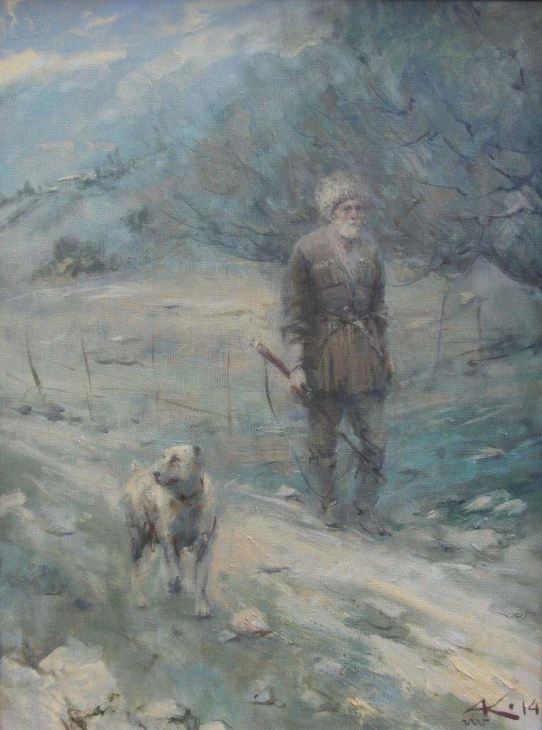 Калманов А.Б. На рассвете, 70-50, х.м.,2014г.