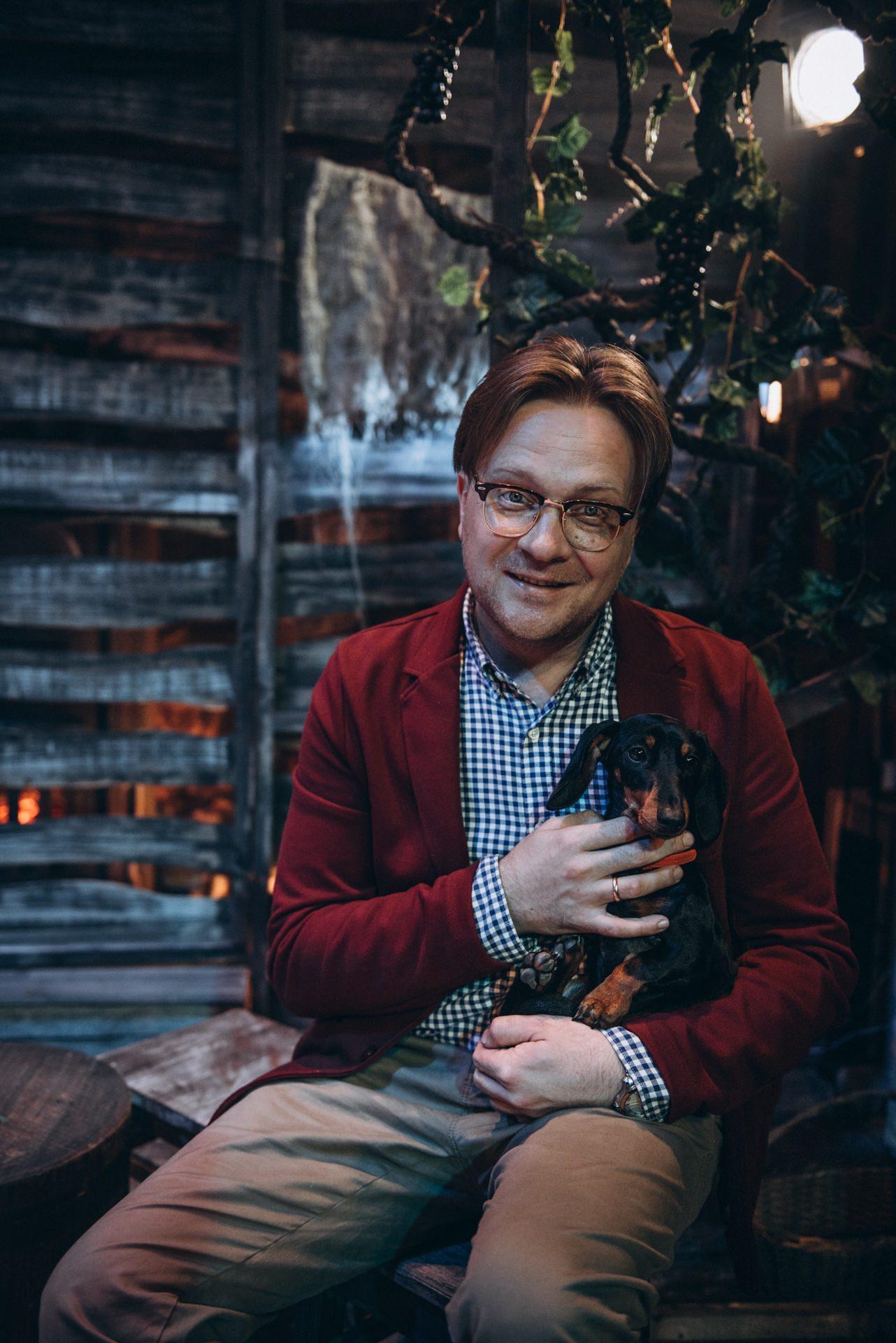 Андрей Пермяков с собакой Нирмой. Фото Аня Кудрявцева