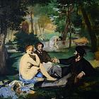 A smaller version of the picture Manet 'Luncheon on the Grass' is not a copy, but a preparatory sketch