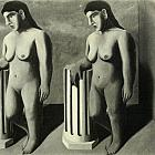 """Enchanted Pose"" - the last fragment of the picture of Magritte found in Brussels"