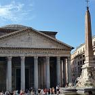 Entrance to the Pantheon in Rome will be paid