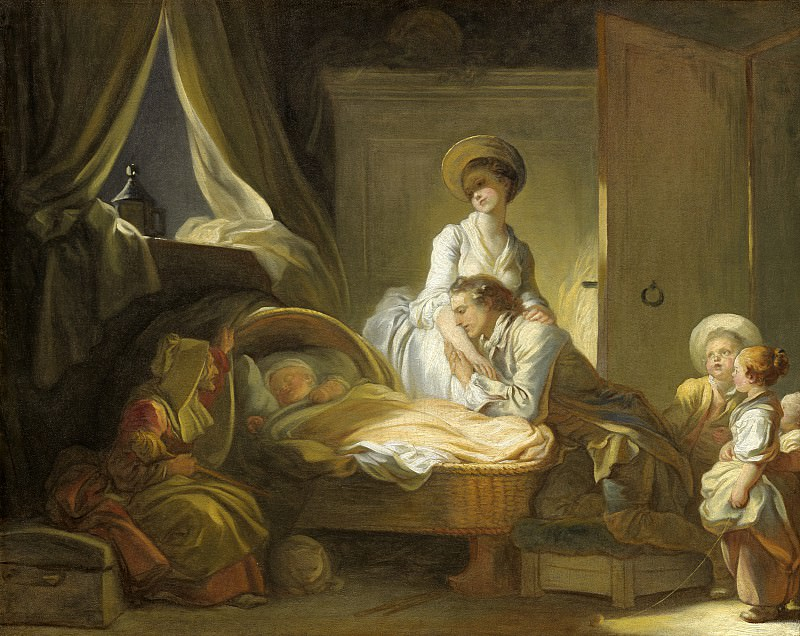 The Visit to the Nursery, Jean Honore Fragonard