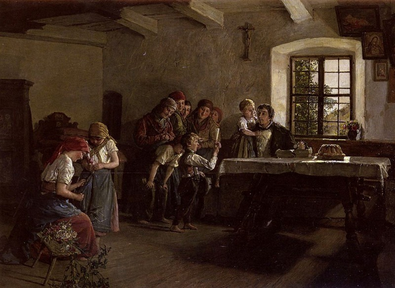 The Center Of Attention, Ferdinand Georg Waldmüller
