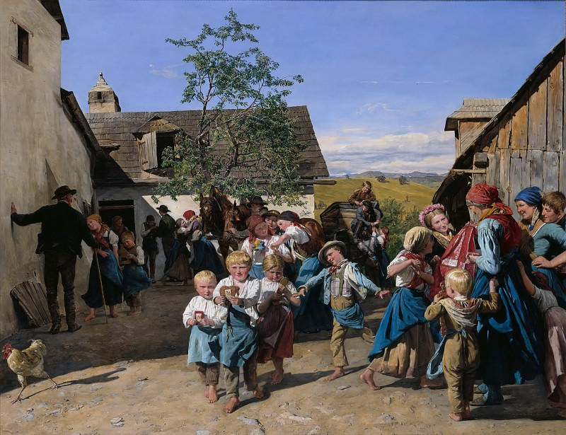 Return from the Fair, Ferdinand Georg Waldmüller