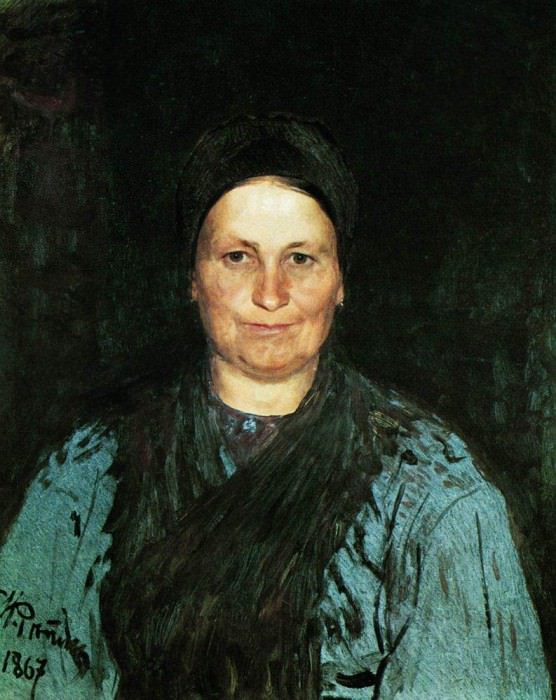 Portrait of the artists mother, TS Repina. 1867, Ilya Repin