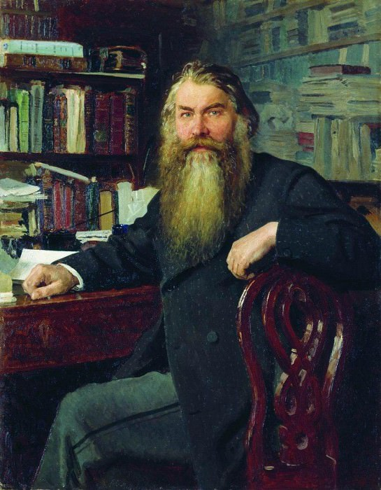 Portrait of the historian IE Zabelin. 1877, Ilya Repin