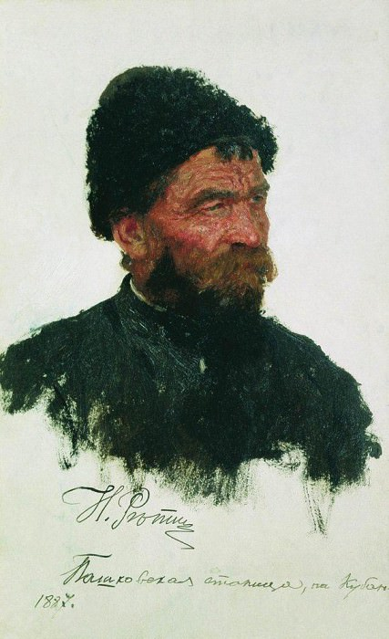 head Cossack, Ilya Repin
