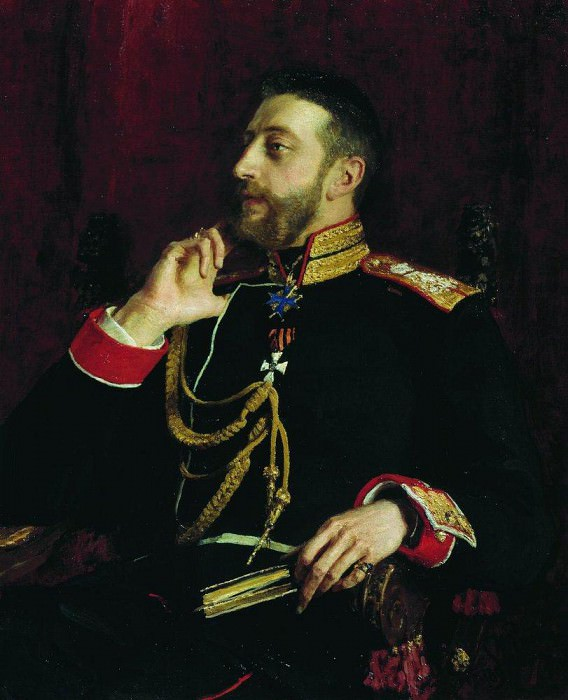 Portrait of the poet of the Grand Duke Konstantin Konstantinovich Romanov. 1891, Ilya Repin