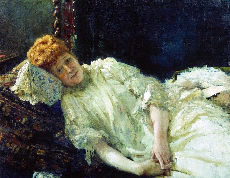 Portrait of pianist Countess Louise Mercy dArgenteau. 1890, Ilya Repin