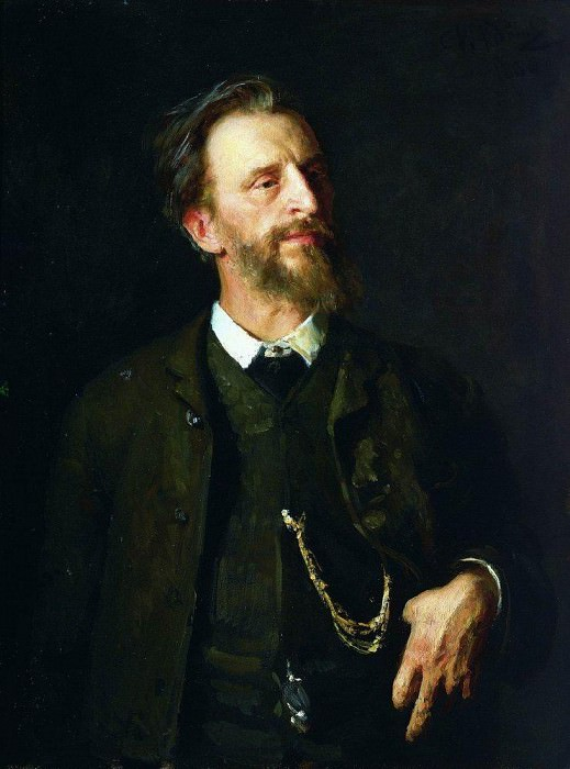 Portrait of the artist GG Myasoyedov. 1884, 1886, Ilya Repin