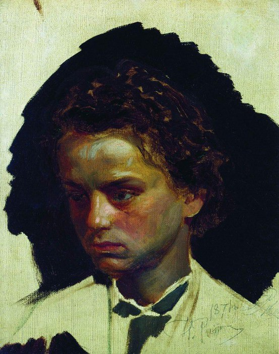 Portrait of the sculptor IYGinzburg in his youth. 1871, Ilya Repin