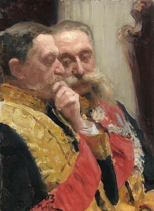 Portrait Goremykin and N. Gerard, members of the Council of State. 1903, Ilya Repin