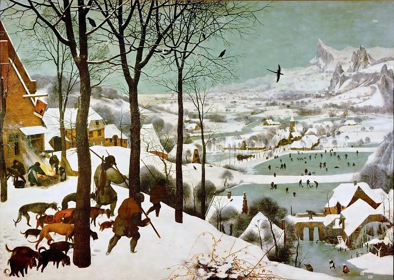 Охотники на снегу - январь. Питер Брейгель Старший