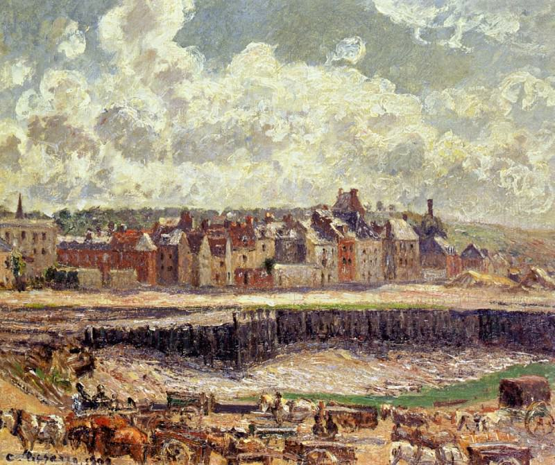 Dieppe, Dunquesne Basin, Sunlight Effect, Morning, Low Tide, Camille Pissarro