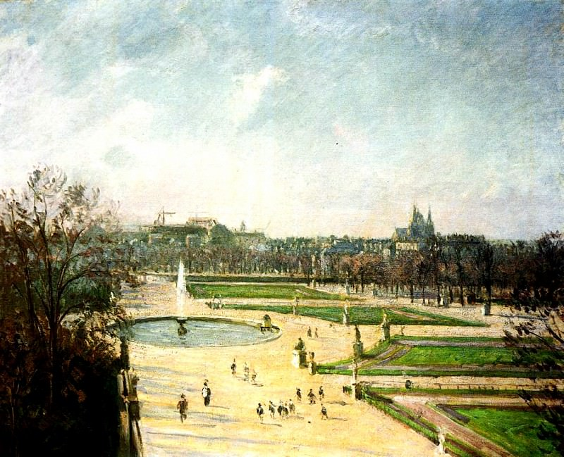 The Tuileries Gardens, Afternoon, Sun. 1900, Camille Pissarro