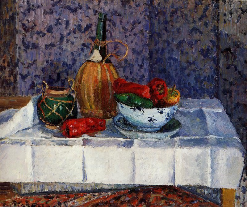 Still Life with Spanish Peppers. 1899, Camille Pissarro