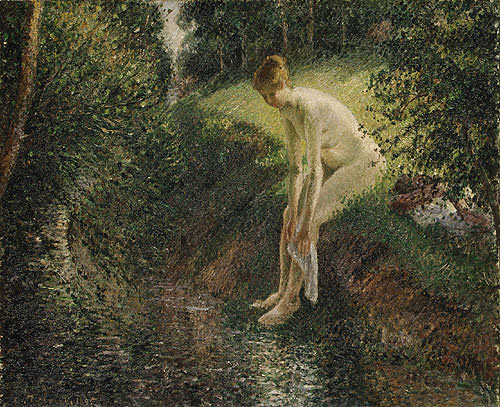 Pissarro Bather in the Woods 1895, Camille Pissarro
