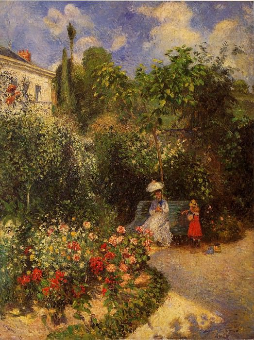 The Garden at Pontoise. 1877, Camille Pissarro