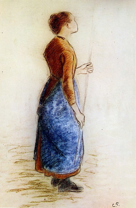 Study for the apple picker , Camille Pissarro