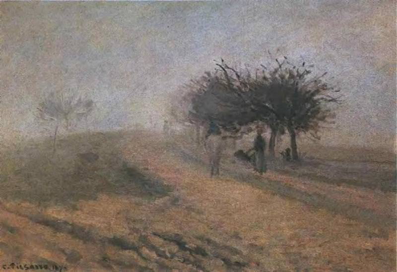 Misty Morning at Creil. 1873, Camille Pissarro