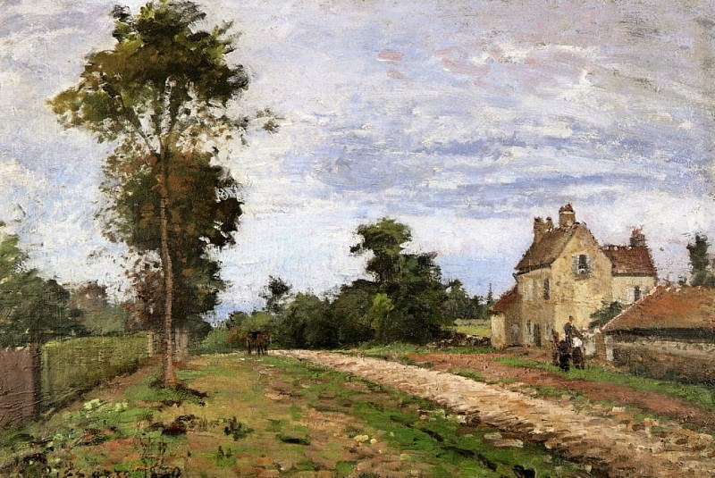 The House of Monsieur Musy, Louveciennes. 1870, Camille Pissarro
