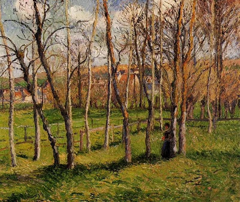 Meadow at Bazincourt. 1885, Camille Pissarro
