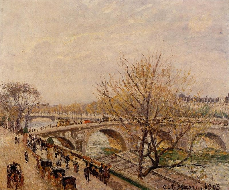 The Seine at Paris, Pont Royal. 1903, Camille Pissarro
