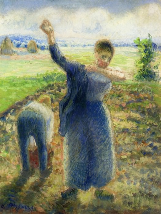 Workers in the Fields. 1896-97, Camille Pissarro