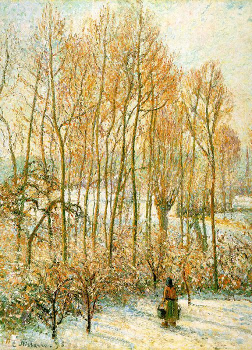 Morning, Sunshine Effect, Winter. 1895, Camille Pissarro